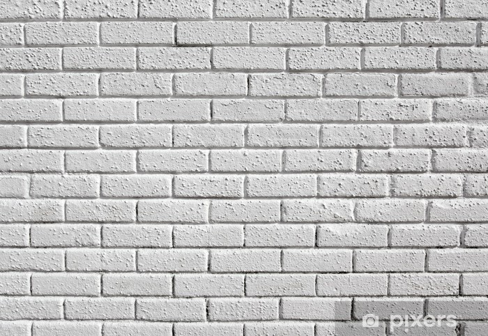 white painted blank brick