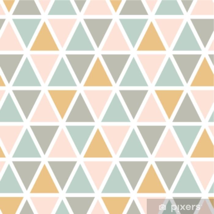 rideau occultant modele de triangle sans soudure abstrait moderne style scandinave couleurs pastel vector background