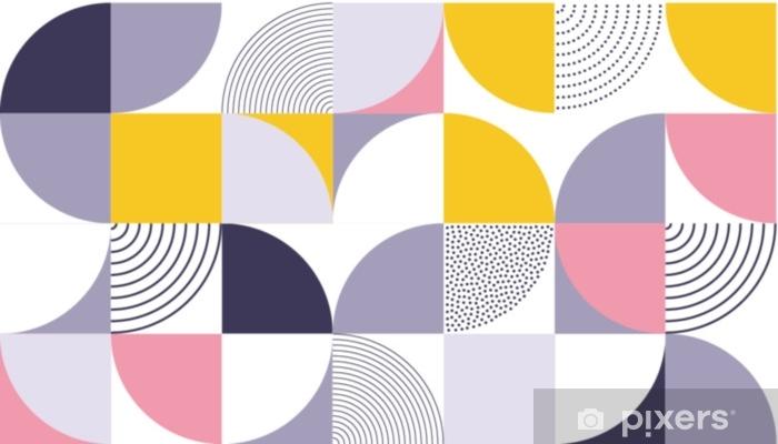 rideau occultant fond de vecteur de motif geometrique avec la couleur abstraite scandinave ou la geometrie suisse imprime de design de forme de