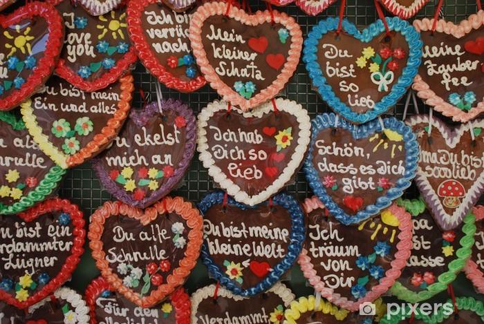 Aufkleber Lebkuchenherzen Oktoberfest Herzen Liebe Mnchen