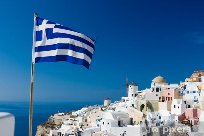 Aufkleber Griechische Flagge  Pixers  Wir leben um zu