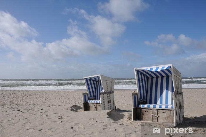 https pixers fr papiers peints relax chaise de plage nord de la mer baltique 28685785