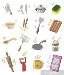 utensilios animados cocina dibujos vinilo pixerstick pixers proveedor visualizacion