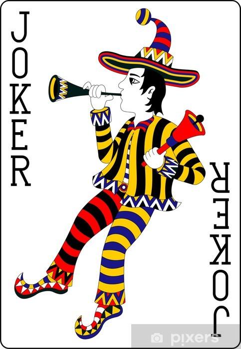 Aufkleber Spielkarte Joker schwarz 62x90 mm  Pixers