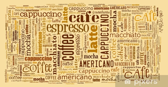 Wallpaper for decorate cafe or coffee shop Wall Mural