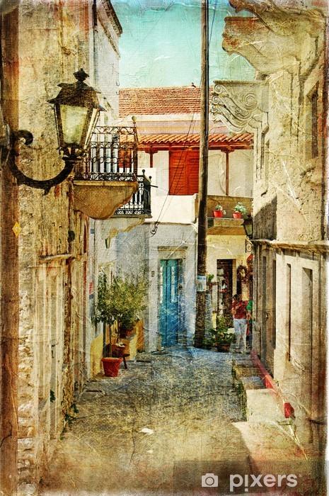 Fototapete Alten griechischen Straenknstlerisches Bild