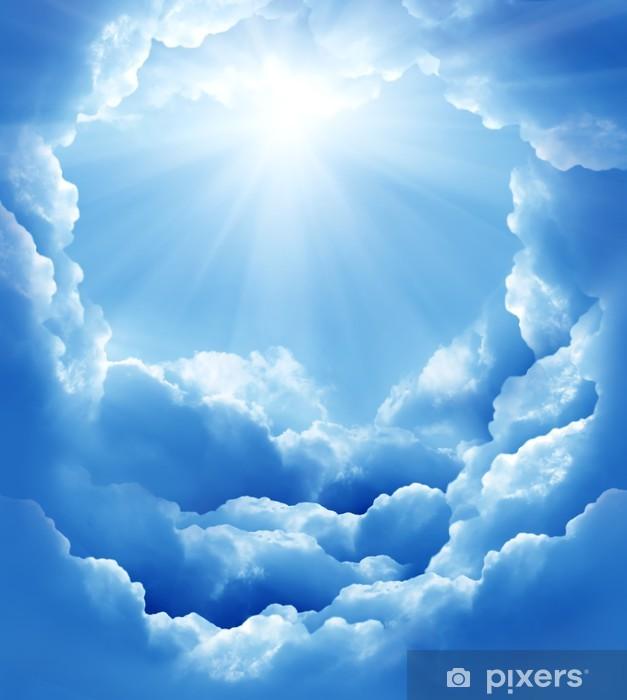 Fotomural Cielo azul con nubes sol y hermoso  Pixers  Vivimos para cambiar