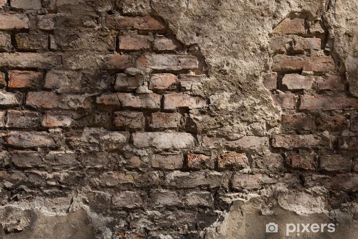 Fototapete Alte Wand  Hintergrund  Backstein  Pixers  Wir leben um zu verndern