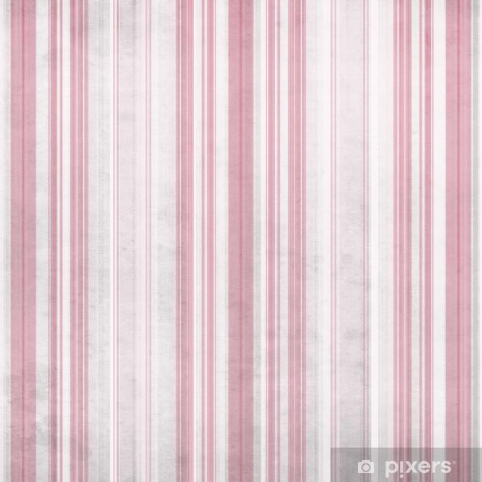 Carta Da Parati In Vinile Shabby Tessile Sfondo Con Strisce Bianche E Rosa E Colorato