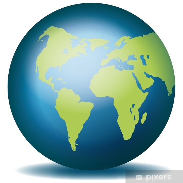 Fototapete Weltkugel Weltkarte Landkarte Globus Karte 3