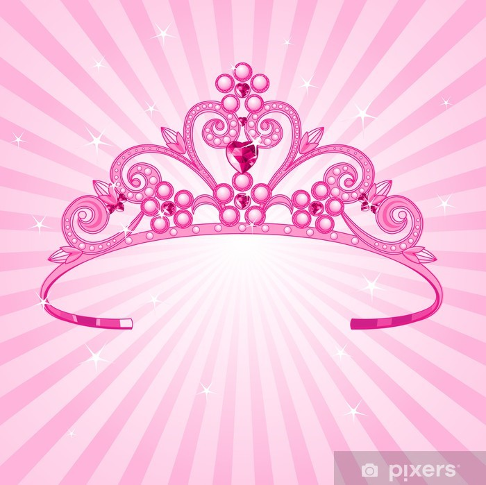 princess crown wall mural