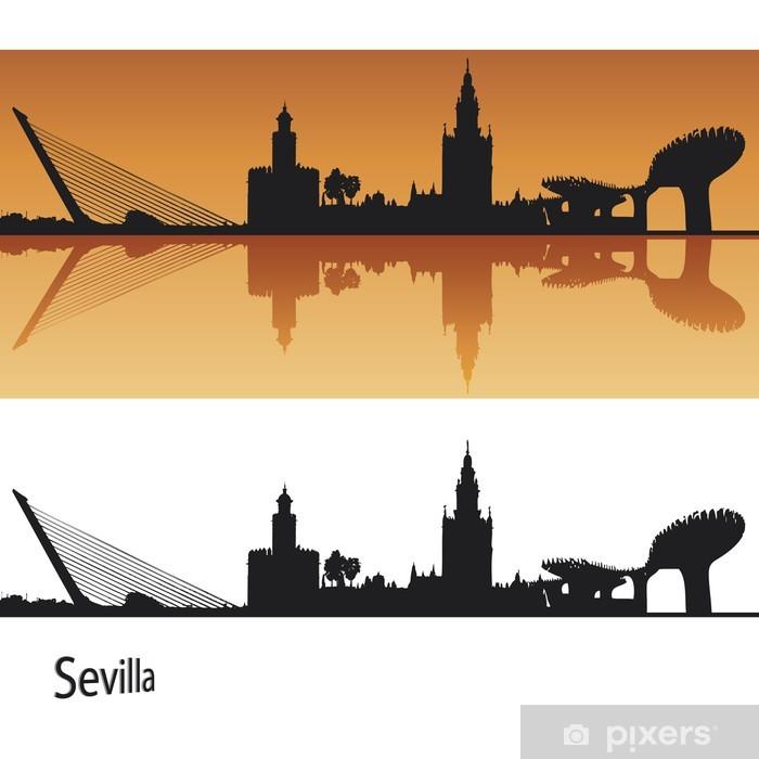 Vinilo Pixerstick Sevilla Skyline  Pixers  Vivimos para