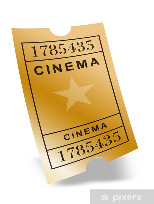 ticket cinéma or wall