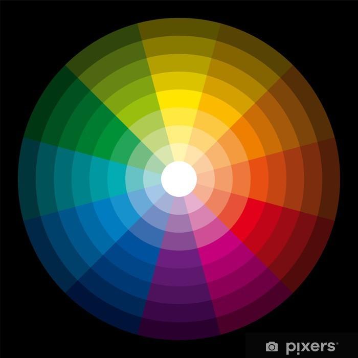 Sticker Kleurencirkel lichtdonker  Pixers  We leven om