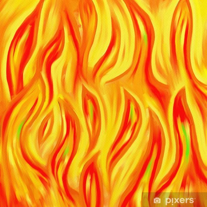 abstract flames wall mural