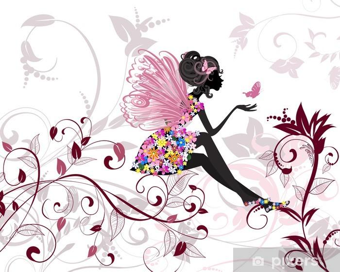 Wandmotiv24 bordura con farfalle gialle, larghezza 260 cm, autoadesiva, bordo per carta da parati, bordo, bordo da parete, motivo arancio, modello: Carta Da Parati Fata Fiore Con Le Farfalle Pixers Viviamo Per Il Cambiamento