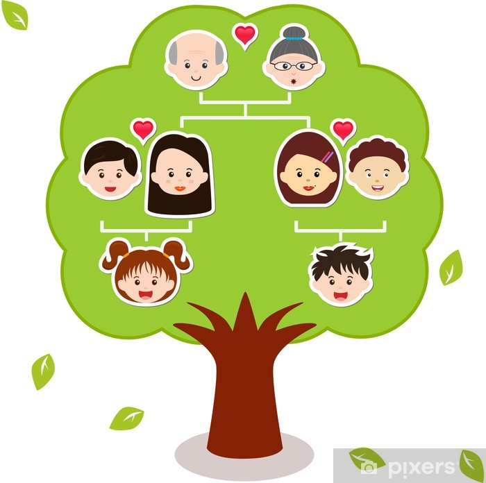 vector icons family tree