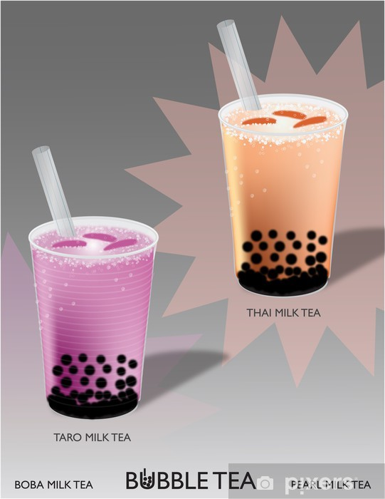 Thai Tea Taro : Bubble, (Thai, Taro), Mural, Pixers®, Change