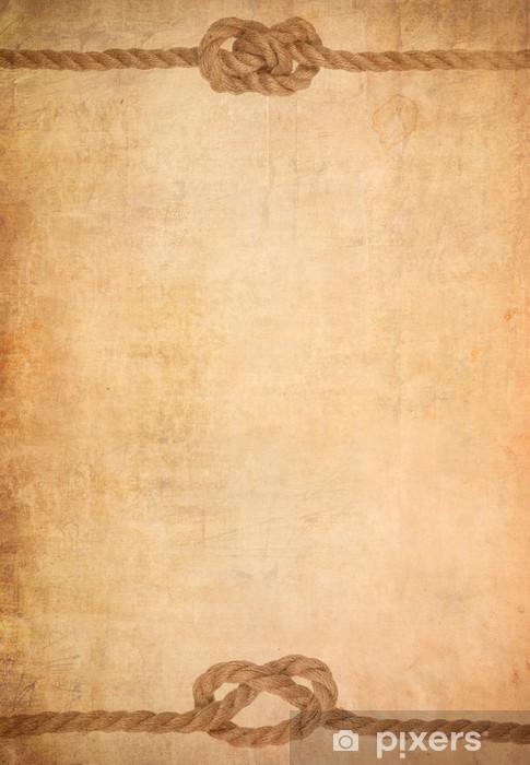 Carta da Parati Corda sulla vecchia carta pergamena sfondo