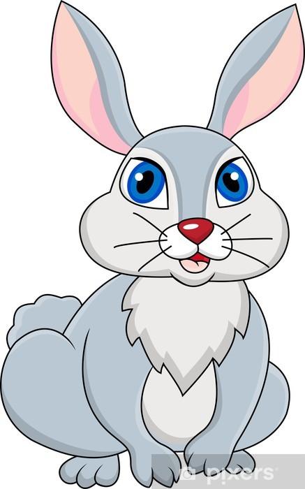 Vinilo Pixerstick Conejo Dibujos animados  Pixers  Vivimos para cambiar