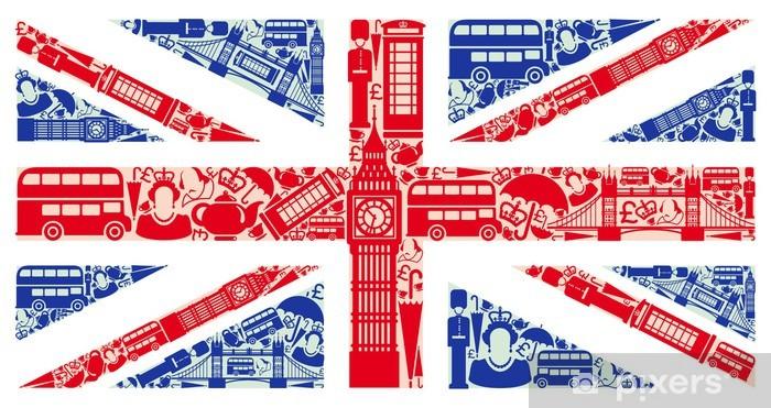 Sticker Vlag van Engeland van symbolen van het Verenigd