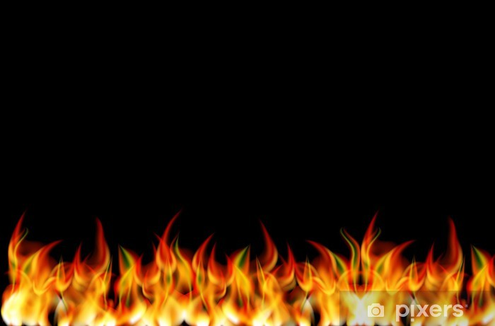 realistic fire vector wall
