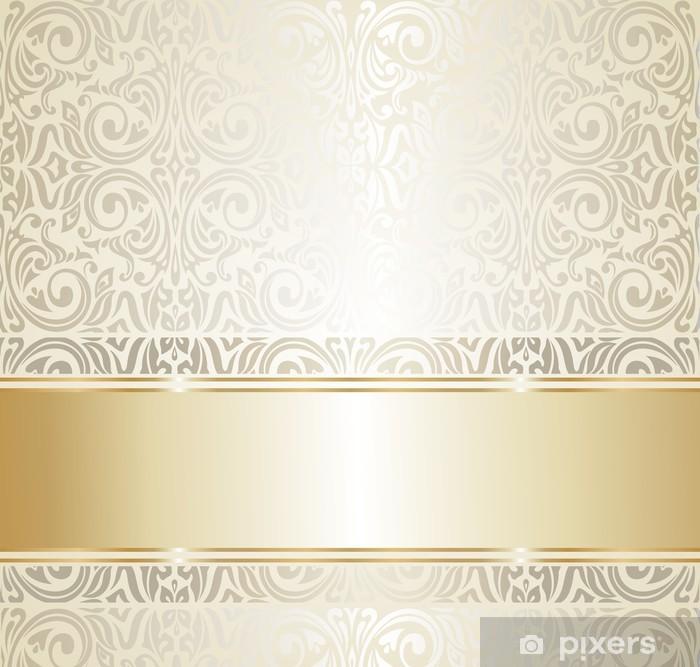 Soggiorno camera da letto sala da pranzo cucina ufficio corridoio. Carta Da Parati Bianco E Oro Da Sposa D Epoca Ivitation Pixers Viviamo Per Il Cambiamento