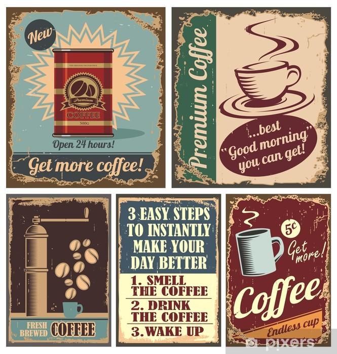 fototapete vintage coffee poster und blechschilder pixers wir leben um zu verandern