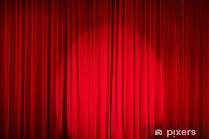 Fototapete Roter Vorhang  Pixers  Wir leben um zu