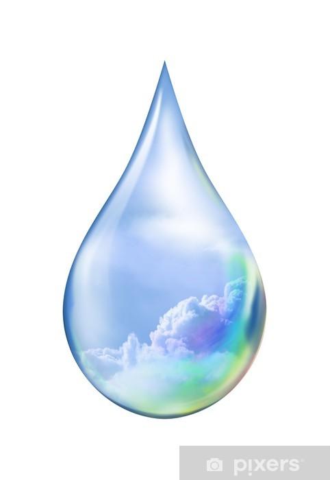 aufkleber goutte d eau nuageuse pixers wir leben um zu verandern