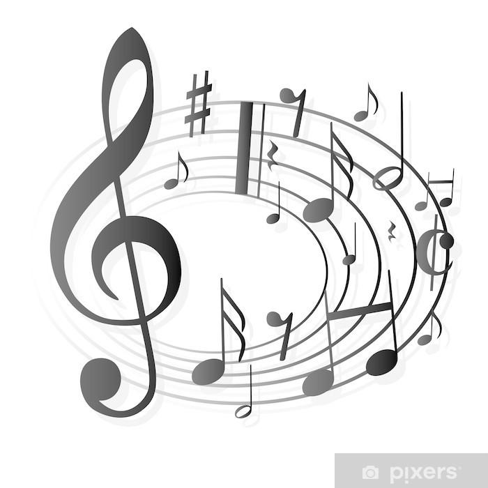 Aufkleber Notenschlssel Noten Musik  Pixers  Wir leben um zu verndern