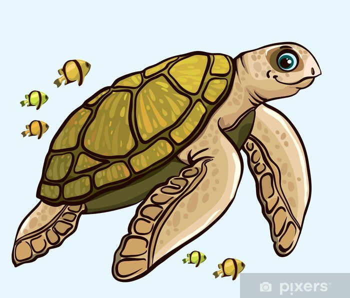 cartoon funny sea turtle poster pixers we live to change