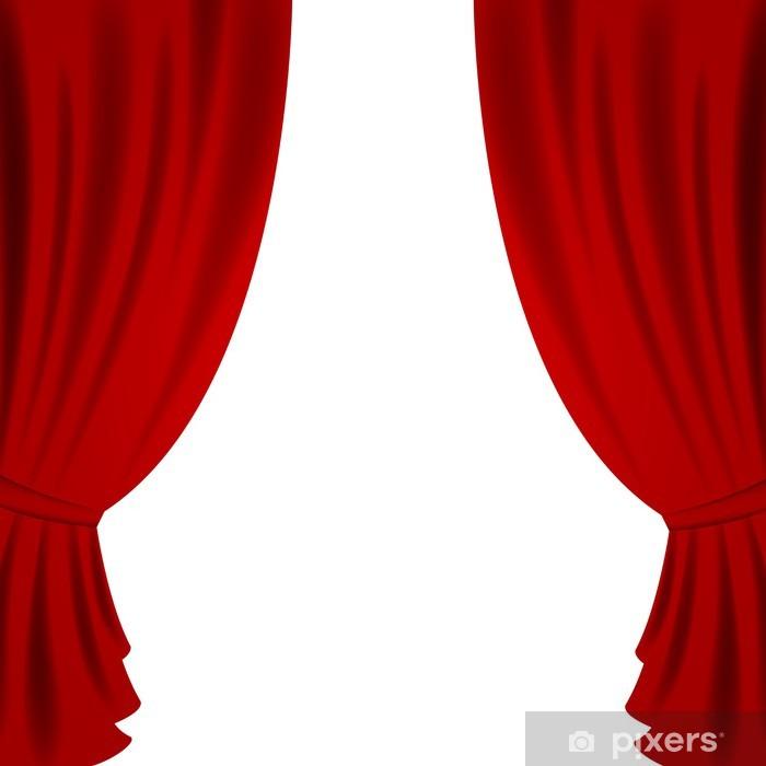 Fototapete VektorIllustration eines Red Theater Vorhang