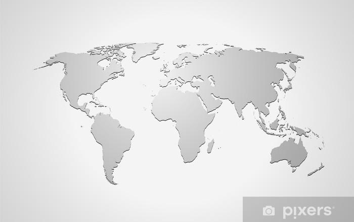 Fototapete Landkarte  Weltkarte Grau  Pixers  Wir