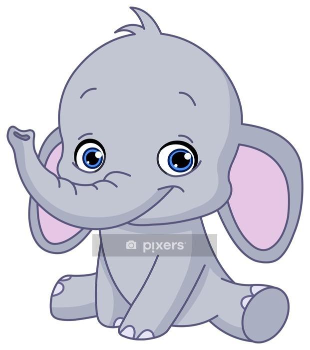 Muursticker Babyolifant  Pixers  We leven om te veranderen