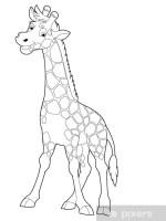 Malvorlage Giraffe Kinderzimmer