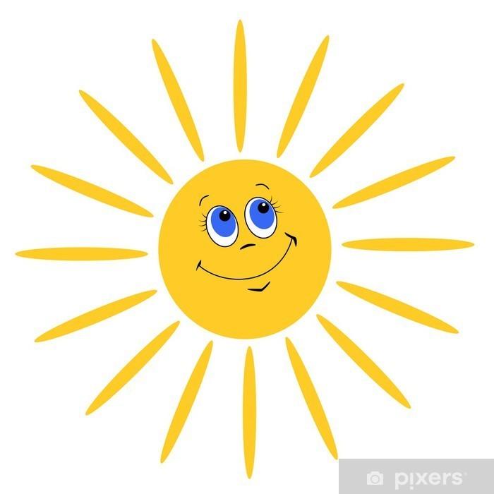 Aufkleber Lachende Sonne  Pixers  Wir leben um zu