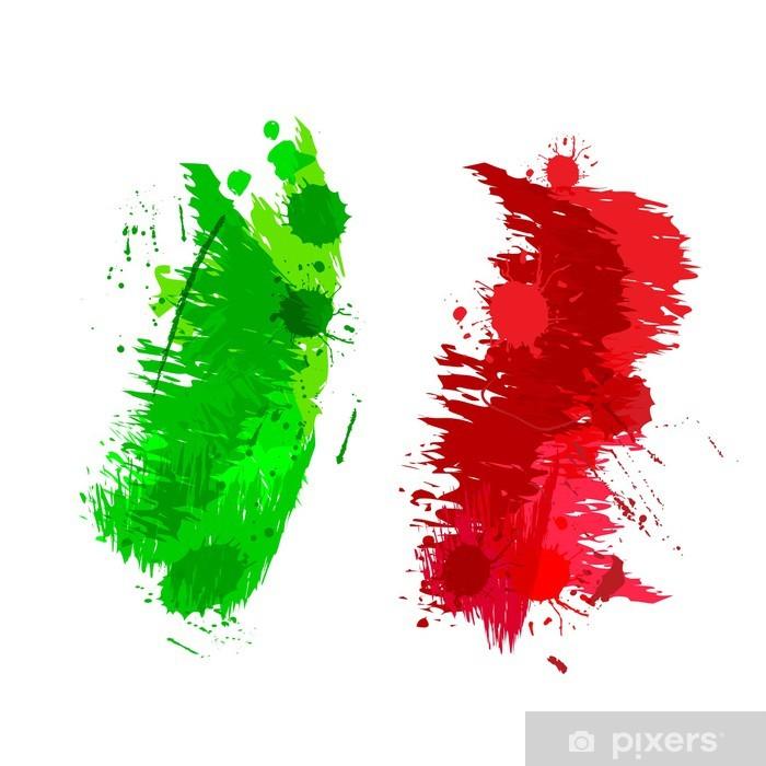 Carta da Parati Spruzzi colorati in forma astratta bandiera italiana  Pixers  Viviamo per il