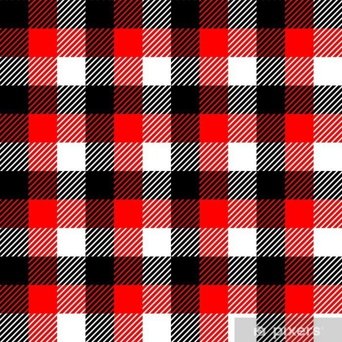 rideau occultant tissu a carreaux vichy seamless dans le noir rouge blanc pixers nous vivons pour changer