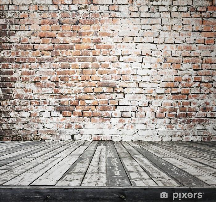 Fotobehang Oude kamer met bakstenen muur  Pixers  We