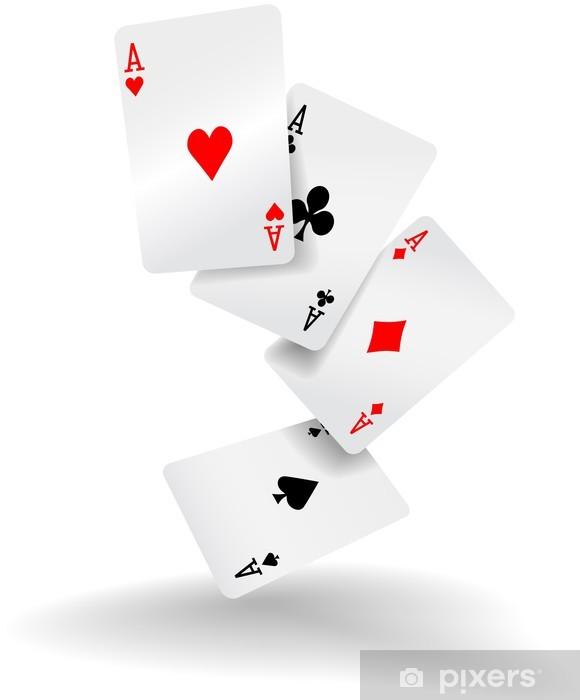 Carta da Parati Carte da gioco quattro assi mano di poker