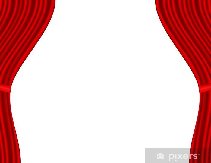 papier peint scene de theatre avec rideau rouge fond blanc pixers nous vivons pour changer