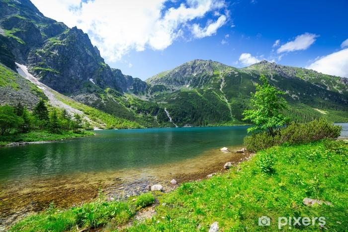 Fotobehang Oog van de zee meer in Tatra gebergte Polen
