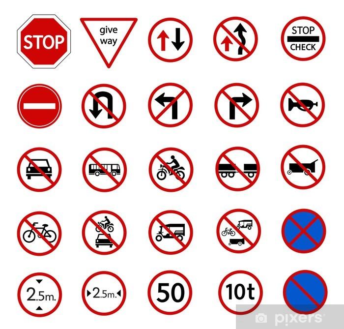 Carta da Parati Traffico segnale di divieto  Pixers