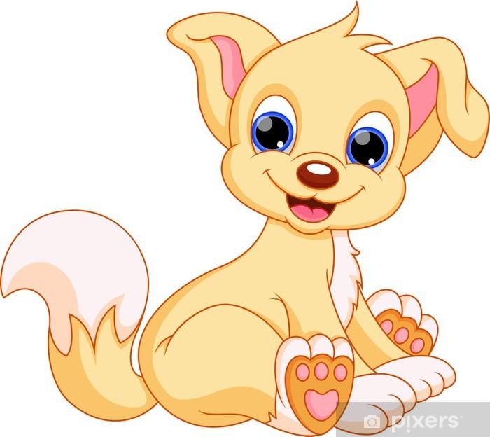 illustration of cute puppy