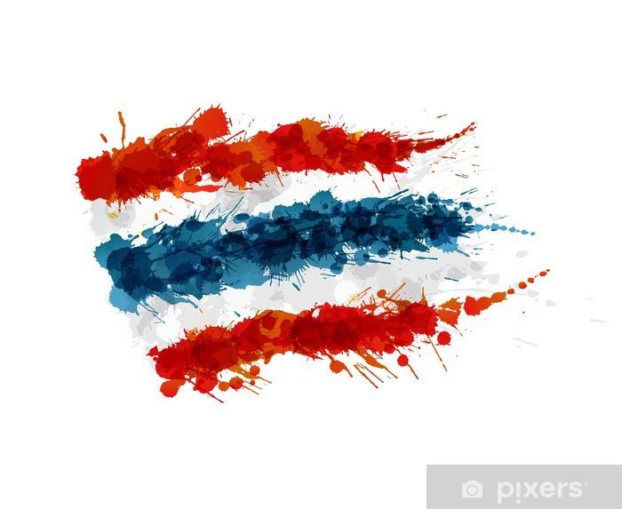 Adesivo Bandiera della Thailandia fatta di spruzzi