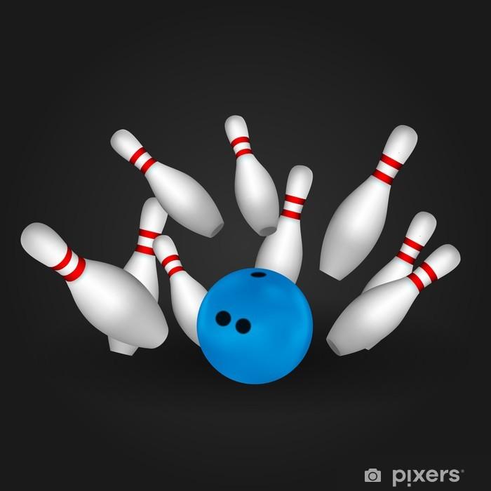 bowl and bowling pins