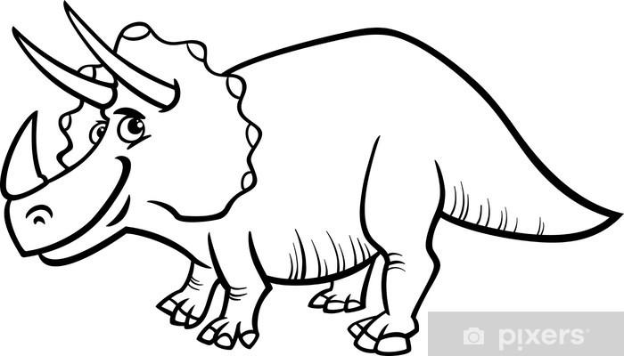 Fototapeta Kolorowanka dinozaur Triceratops strona