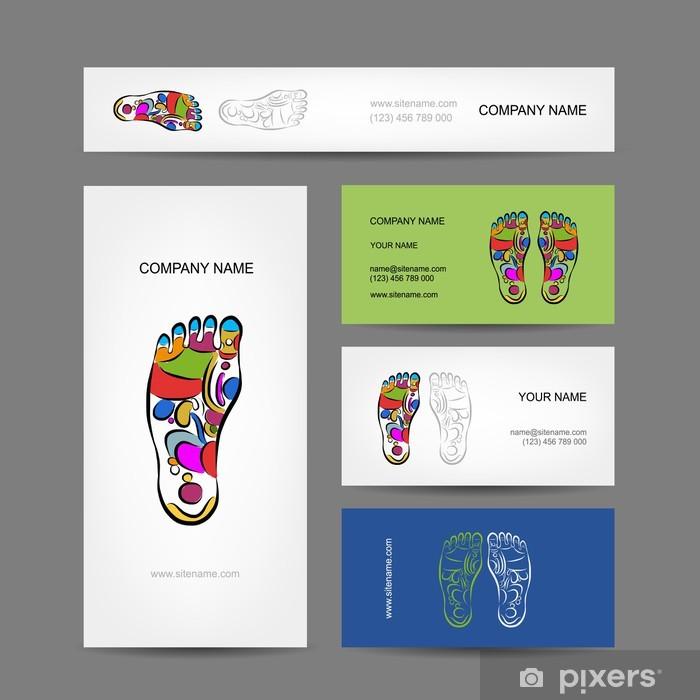 Di sergio leone su pinterest. Business Cards Design Foot Massage Reflexology Poster Pixers We Live To Change