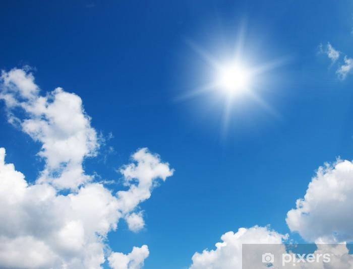 Fotomural Cielo azul y el sol  Pixers  Vivimos para